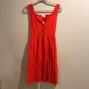 *The Korner* Boutique Midi Coral Dress